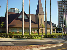 View of Main Sanctuary from Keeaumoku St.